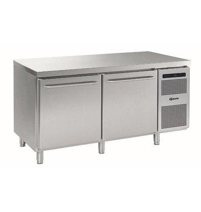 Gram Bäckerei Kühltisch | 2 Türen | Gram BAKER M 1808 CBG A DLB DRB L2 | 586L | 1698x800x885/950(h)mm