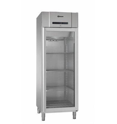 Gram Kühlschrank Edelstahl mit Glastür | Gram COMPACT KG 610 RG L2 4N | 583L | 695x868x2010(h)mm