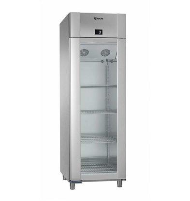 Gram Display Kühlschrank Vario Silver Edelstahl | Gram ECO PLUS KG 70 RCG L2 4N | 477L | 700x905x2125(h)mm