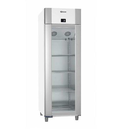 Gram Display Kühlschrank Weiß/Edelstahl | Gram ECO PLUS KG 70 LCG L2 4N | 477L | 700x905x2125(h)mm