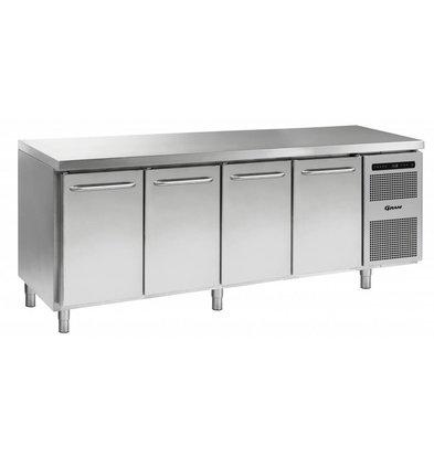 Gram Kühltisch 4-Türig | Gram GASTRO 07 K 2207 CSG A DL/DL/DL/DR L2 | 668L | 2163x700x885/950(h)mm