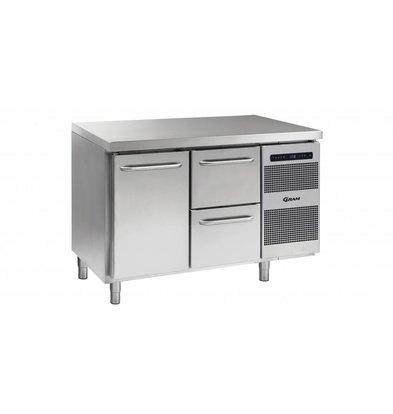 Gram Kühltisch 1 Tür + 2 Schubladen | Gram GASTRO 07 K 1407 CSG A DL/2D L2 | 345L | 1289x700x885/950(h)mm