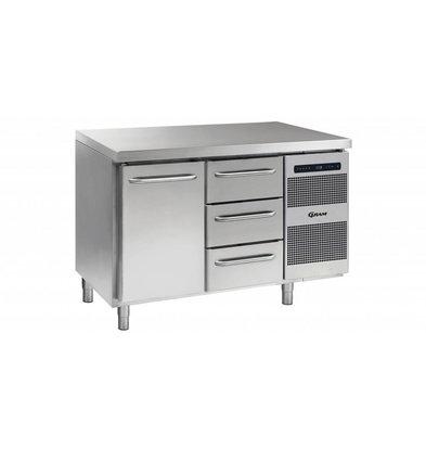 Gram Kühltisch 1 Tür + 3 Schubladen | Gram GASTRO 07 K 1407 CSG A DL/3D L2 | 345L | 1289x700x885/950(h)mm