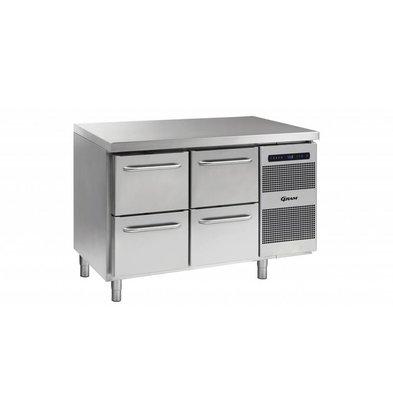 Gram Kühltisch 4 Schubladen | Gram GASTRO 07 K 1407 CSG A 2D/2D L2 | 345L | 1289x700x885/950(h)mm