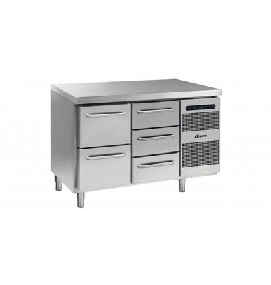 Gram Kühltisch 2 + 3 Schubladen | Gram GASTRO 07 K 1407 CSG A 2D/3D L2 | 345L | 1289x700x885/950(h)mm