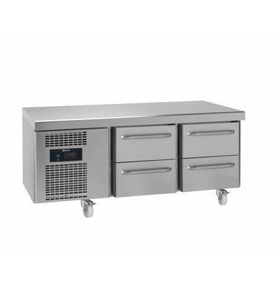 Gram Snack Kühltisch Edelstahl | 2x2 Schubladen | Gram GASTRO 07 KS 0-4H | 210L | 1397x700x680(h)mm