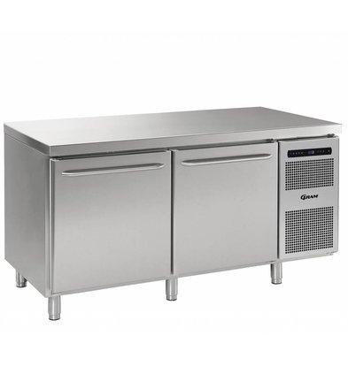 Gram Tiefkühlschrank Edelstahl 2-Türig   Gram GASTRO 08 F 1808 CSG A DL DR L2   586L   1698x800x885/950(h)mm