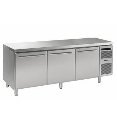 Gram Kühltisch Edelstahl 3-Türig   Gram GASTRO 08 K 2408 CSG A DL/DL/DR/L2   865L   2340x800x885/950(h)mm