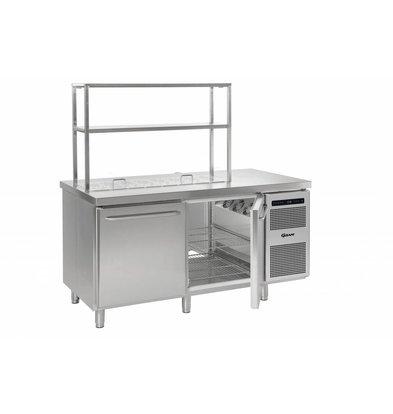 Gram Kühltisch Edelstahl 2-Türig   Gram GASTRO 08 K 1808 D CSG S OPL DL/DR/L2   586L   1698x800x885/950(h)mm