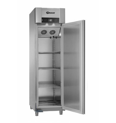Gram Tiefkühlschrank Edelstahl   ENERGIESPAREND   Gram SUPERIOR EURO F 62 CCG L2 4S   465L   620X855X2125(h)mm