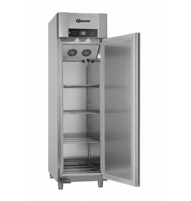 Gram Tiefkühlschrank Vario Silver   ENERGIESPAREND   Gram SUPERIOR EURO F 62 RAG L2 4S   465L   620X855X2125(h)mm