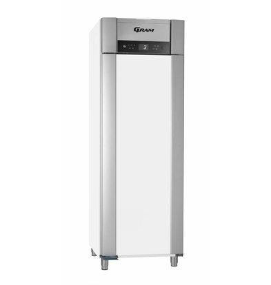 Gram Gastronomie Kühlschrank Weiß + Umluft | Gram SUPERIOR PLUS M 72 LCG L2 4S | 477L | 720x905x2125(h)mm