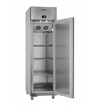 Gram Tiefkühlschrank Vario Silver/Aluminium   Eco Euro F60 RAG L2 4N   465 L   600x855x2125(h)mm