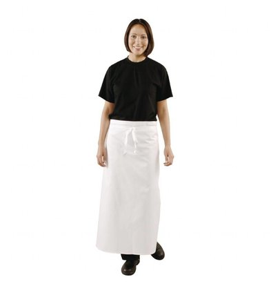 Whites Chefs Clothing Whites Küchenschürze extra lang   Baumwolle   915x915mm