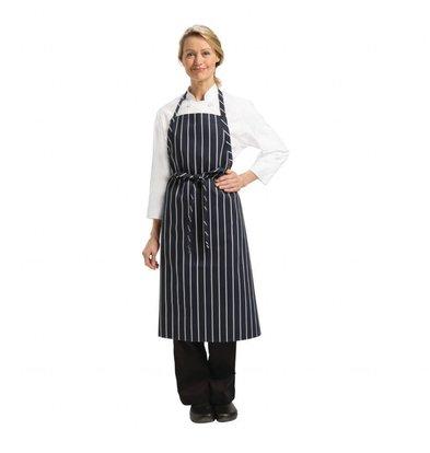 Chef Works Chef Works Premium Latzschürze | Blau-Weiß gestreift | 990(l)x940(b)mm