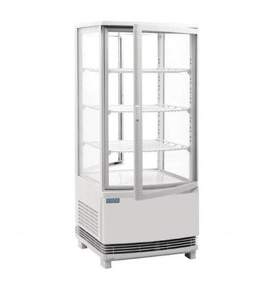 Polar Kühlvitrine mit gebogenen Türen | 86 Liter | 420x430x(h)980mm