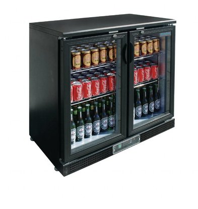 Polar Barkühlschrank | 2 Glastüren | 245 Liter | 900x520x(h)925mm