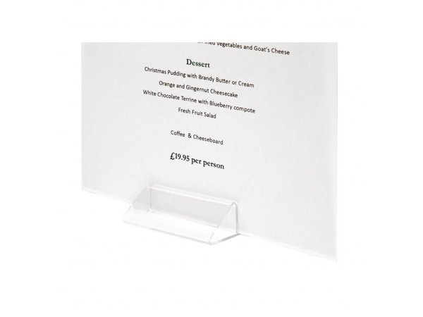 Olympia Acryl Menühalter M-Form | Geeignet für A4-Karten