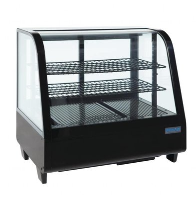 Polar Aufsatzkühlvitrine | 100 Liter | Schwarz | 680x450x(h)670mm