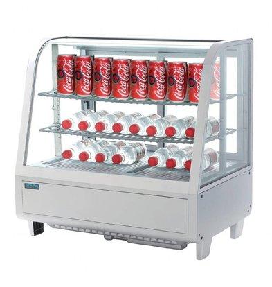 Polar Aufsatzkühlvitrine | 100 Liter | Weiß | 680x450x(h)670mm