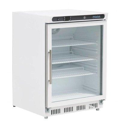 Polar Kühlschrank mit Glastür | 150 Liter | 600x600x(h)850mm