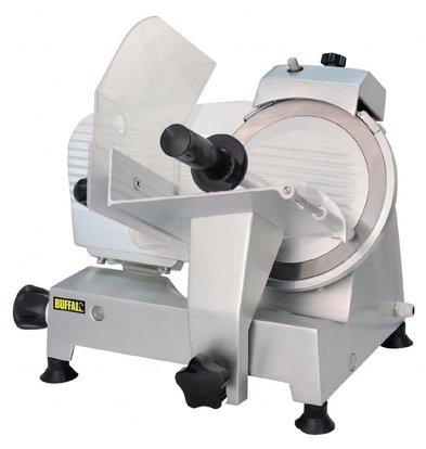 Buffalo Aufschnittmaschine Aluminium | Integrierter Messerschärfer | Messer 220mm