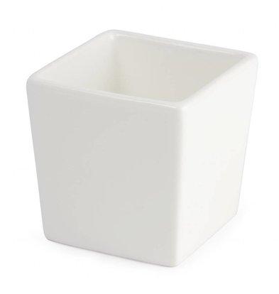 Lumina Fine China Dipschale Höhe 75mm | Lumina Porzellan Weiß | 6 Stück