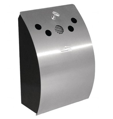 Bolero Wandaschenbecher Edelstahl | Innenbehälter ausnehmbar | 250x140x(h)350mm