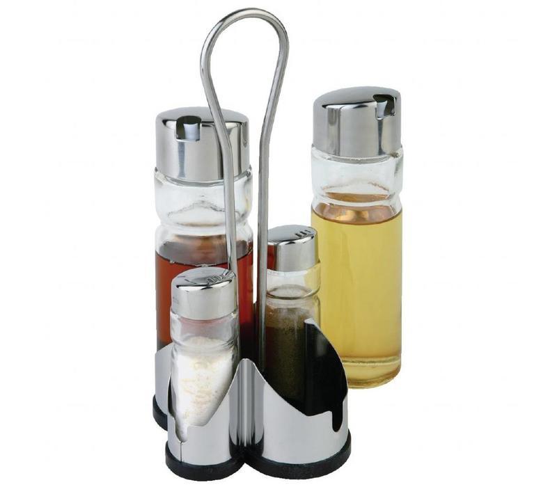 XXLselect 5-Teiliges Menagenset | Inkl. Flaschen und Streuer
