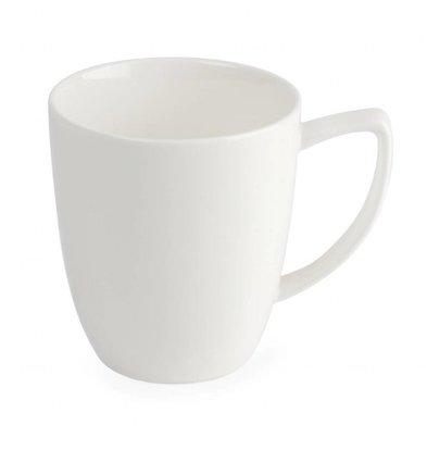 Lumina Fine China Kaffeebecher 284ml | Lumina Porzellan Weiß | 6 Stück