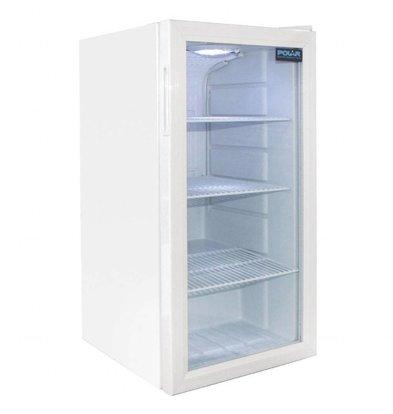 Polar Kühlschrank mit Glastür Weiß | 88 Liter | 430x480x(h)820mm