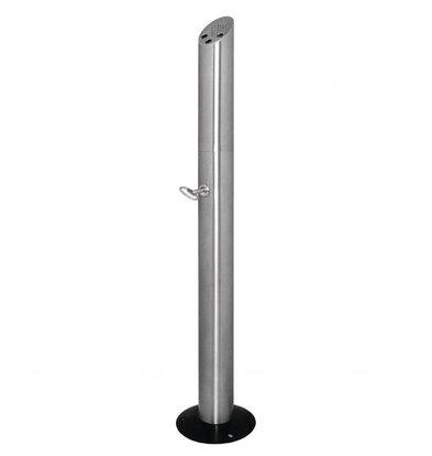 Bolero Zigarettensäule Standmodell | Edelstahl | 200x980x(h)210mm