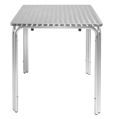 Bolero Bistrotisch Edelstahl Stapelbar | Aluminium Gestell | 600x600x(h)720mm