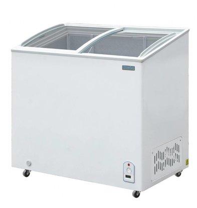 Polar Tiefkühltruhe mit Glasdeckel | 200 Liter | 953x553x(h)920mm