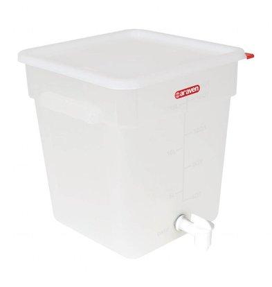 Araven Sauchenspender mit Zapfhahn | Polypropylen | 18 Liter