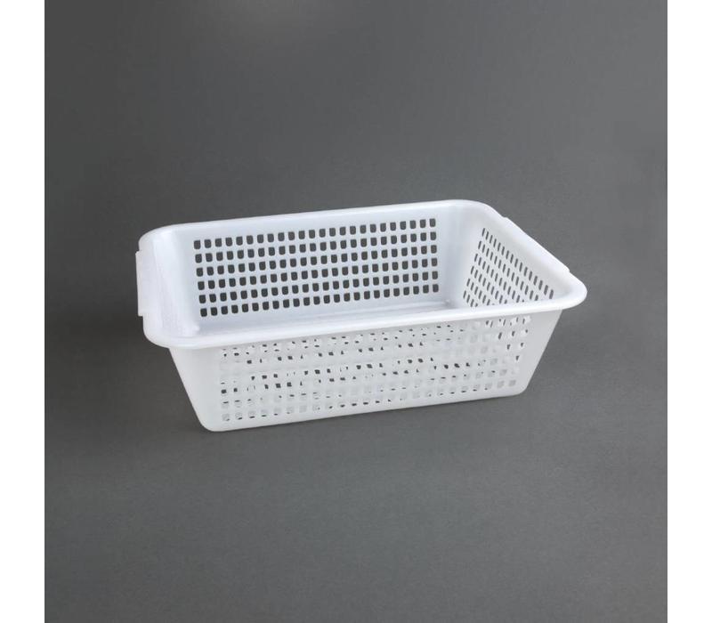 Vogue Abtropfsieb Weiß | Polyäthylen | 272x198x(h)84mm