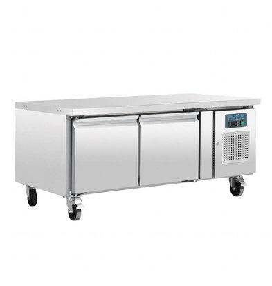 Polar Kühltisch niedrig Modell   2 Türen   214 Liter   1360x700x(h)650mm