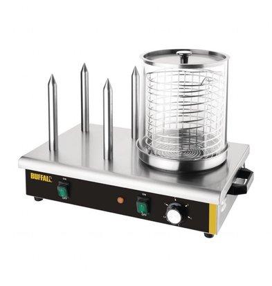 Buffalo Hot-Dog Gerät | 4 Heizstangen | 230V-650W | 550x340x(h)370mm
