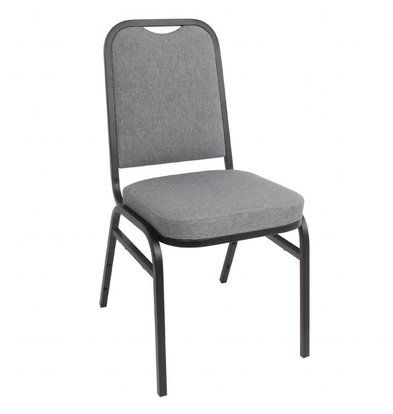 Bolero Banketstuhl Grau | Rechteckige Rückenlehne | 4 Stück