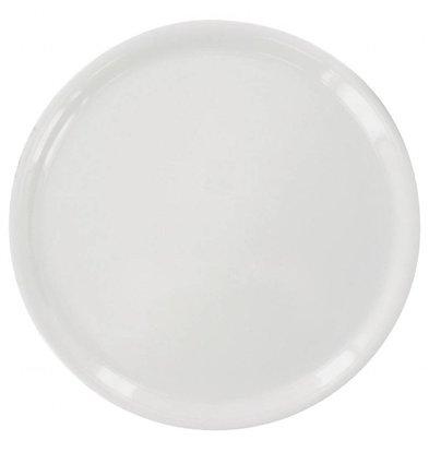 Saturnia Napoli Pizzateller Ø330mm | Porzellan Weiß | 6 Stück
