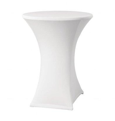 XXLselect Samba Tischhusse | Für Stehtische bis Ø850x(h)1150mm | Weiß