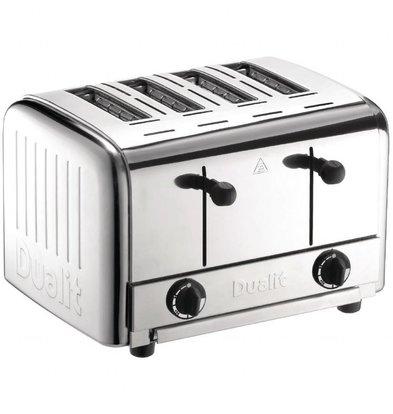 Dualit Edelstahl Toaster Dualit | 4 Schlitze | Herausnehmbare Krümmelschale
