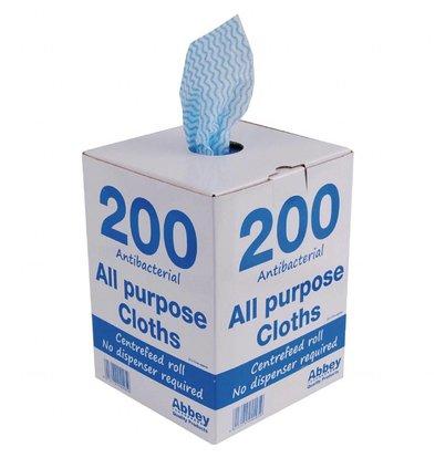 Jantex Antibakterielle Mehrzwecktücher | Blau | 200 Stück