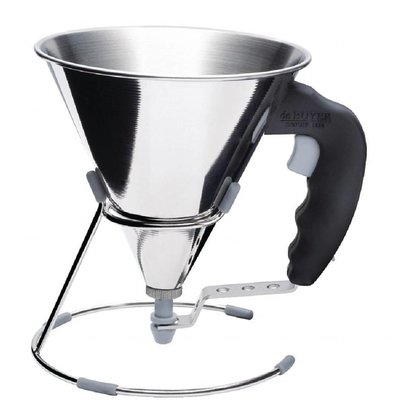 De Buyer Mini Fondanttrichter Edelstahl | 0,8 Liter
