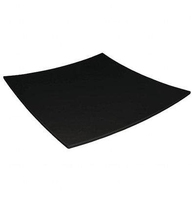 Kristallon Teller Viereckig | Melamin Schwarz | 310x310mm