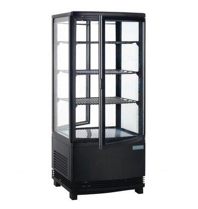 Polar Kühlvitrine Schwarz | 86 Liter | 2 Türen | 420x430x(h)980mm