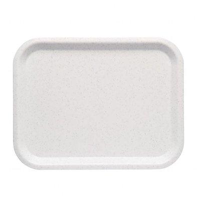 Roltex Nordic Serviertablett Weiß gefleckt | 360x280mm