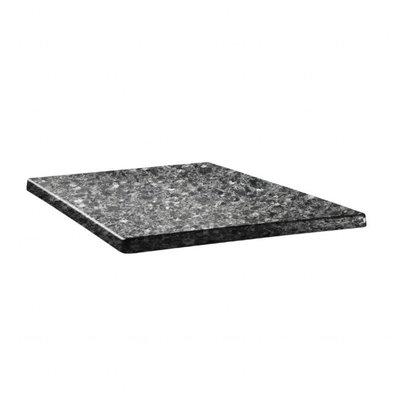 Topalit Classic Line Tischplatte Viereckig | Granit Schwarz | Erhältlich in 3 Größen