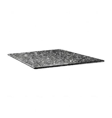Topalit Smartline Tischplatte Viereckig | Granit Schwarz | Erhältlich in 2 Größen