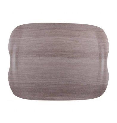 Roltex Roltex Wave Serviertablett | 430x330mm | Graues Holz
